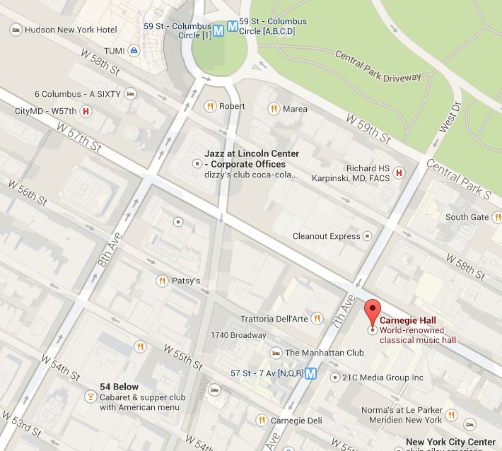 How do you get to Carnegie Hall? | SPARK Carnegie Deli Map on